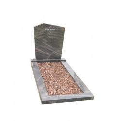 Grafsteen met omranding